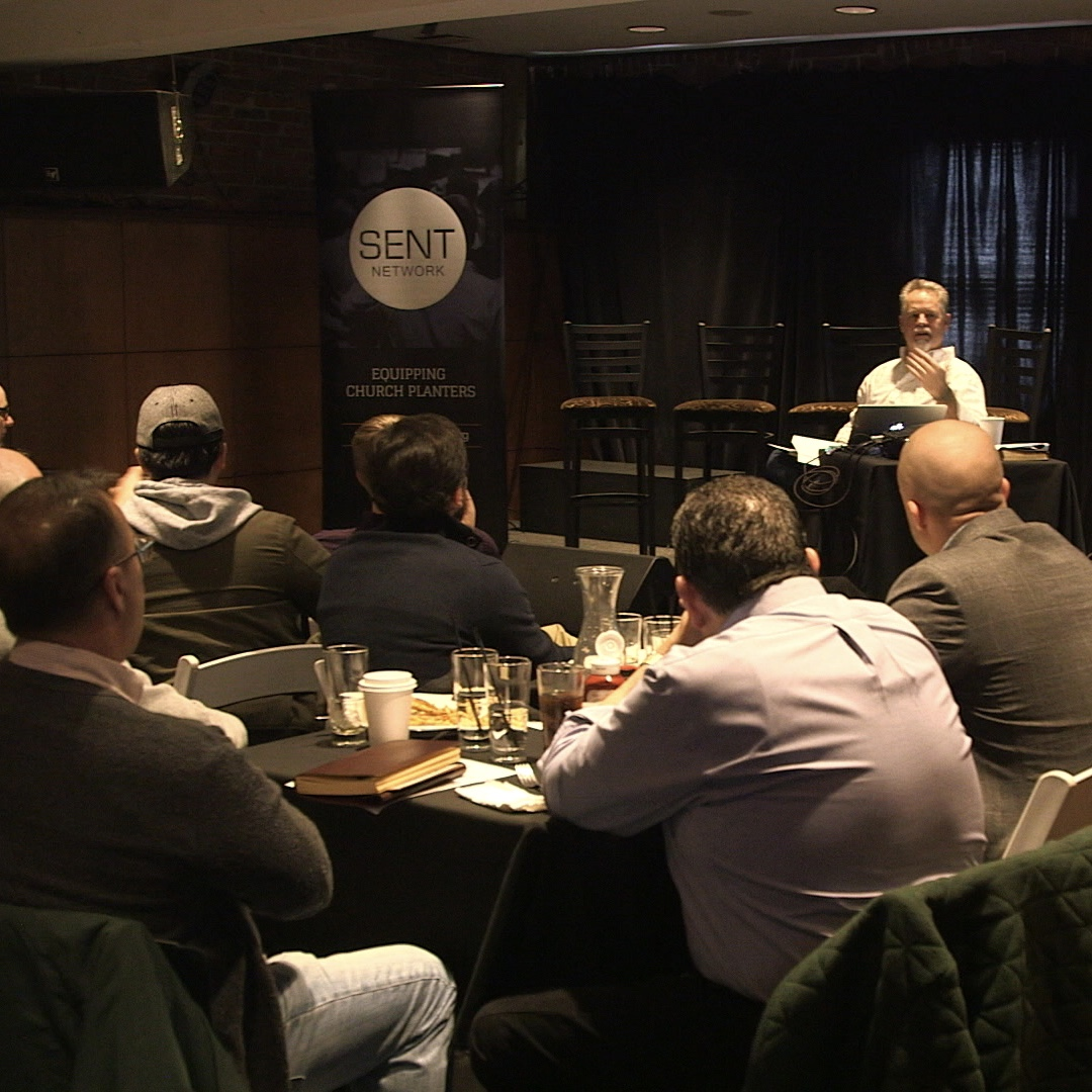 executive director mark mcGeever training church planters and pastors face-to-face.