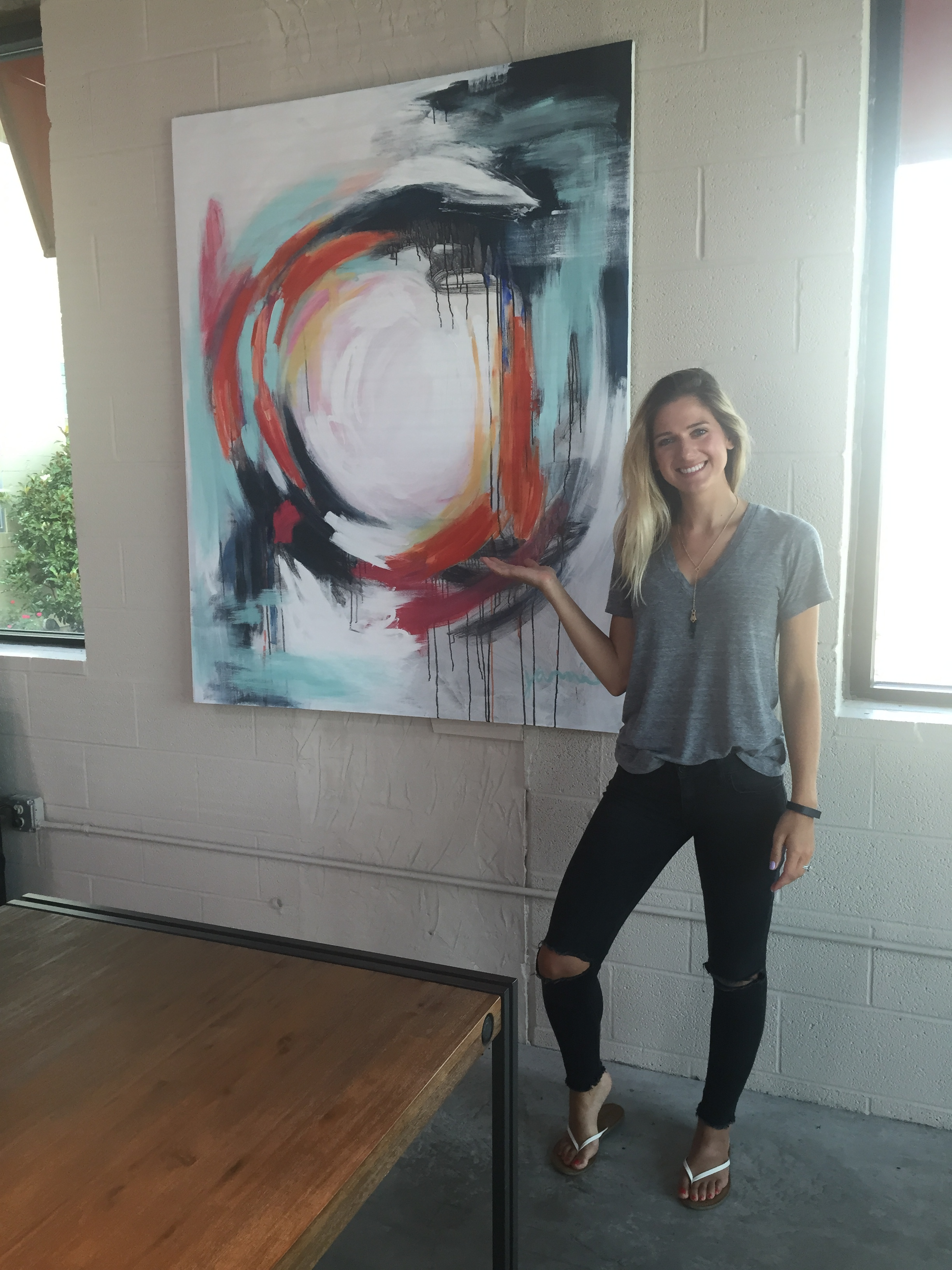 Office Abstract - SOLD - 3' x 5' | mixed media on canvas