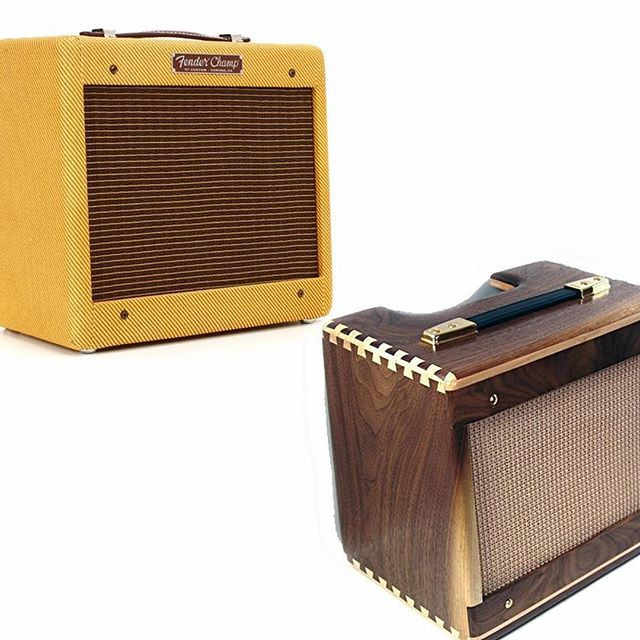 Hi guys, here is the question of the day: which enclosure would you prefer for the Fender Champ - original tweed or custom-built of natural wood? We'll highly appreciate your feedback  #question #fender #fenderchamp  #original #custom #custombuilt #tweed #naturalwood #guitarist #guitarplayer #customshop