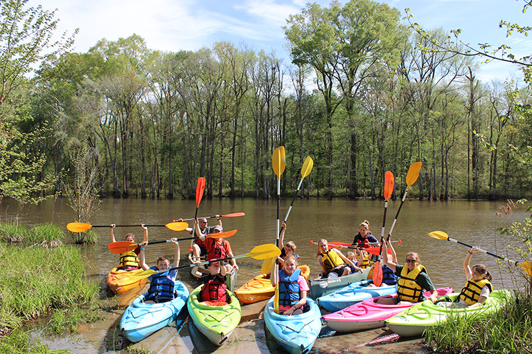 Kayaking along the Neuse River