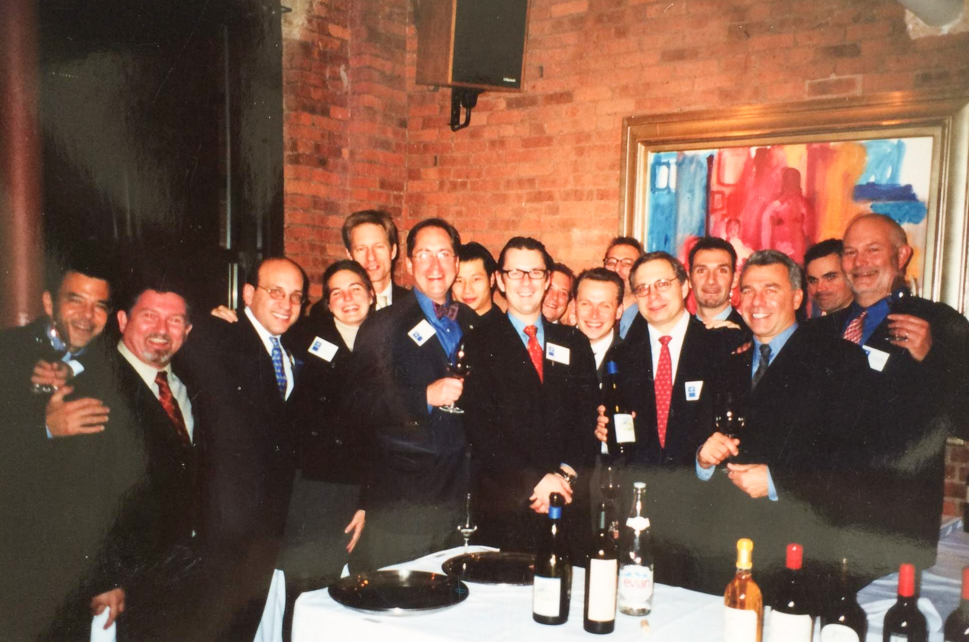 Stephen and Inez gather with other survivors and co-workers from Windows on the World, at a dinner held after 9/11.