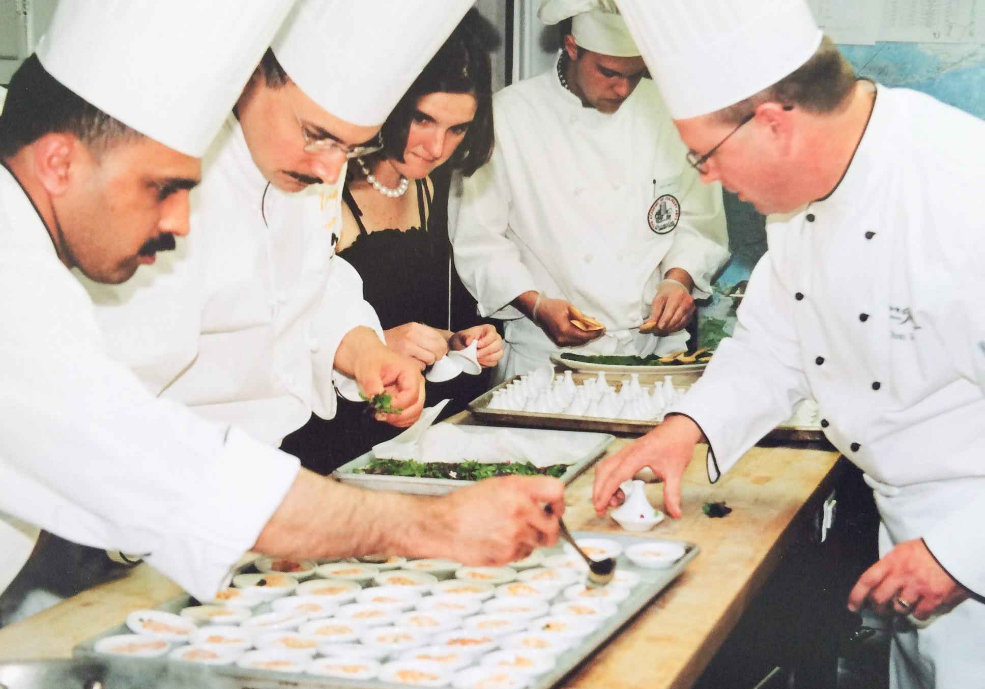 Inez prepares a James Beard Dinner, fine-tuning her culinary skills after graduating from the Institute of Culinary Education