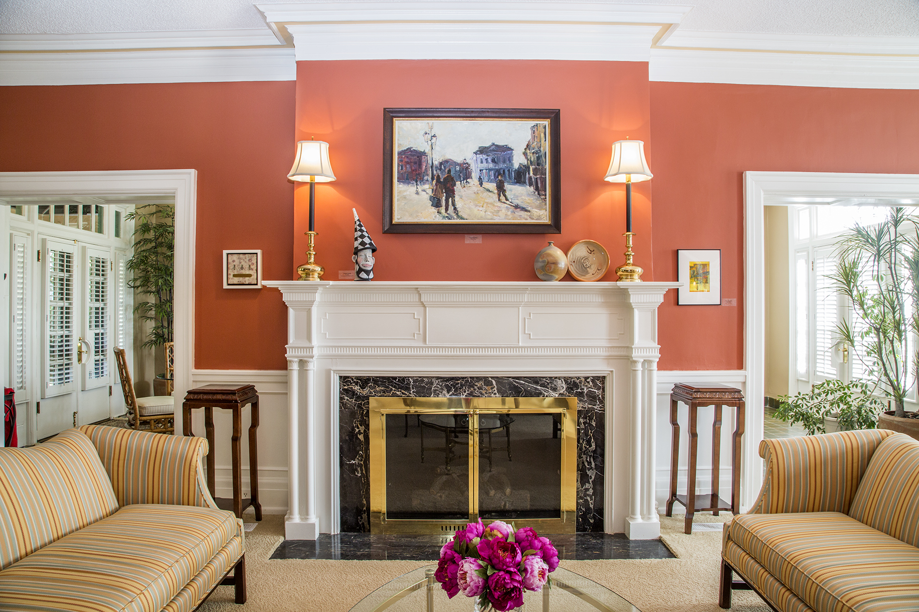 The mantel was handmade by Griffin Lumber Company of Goldsboro.