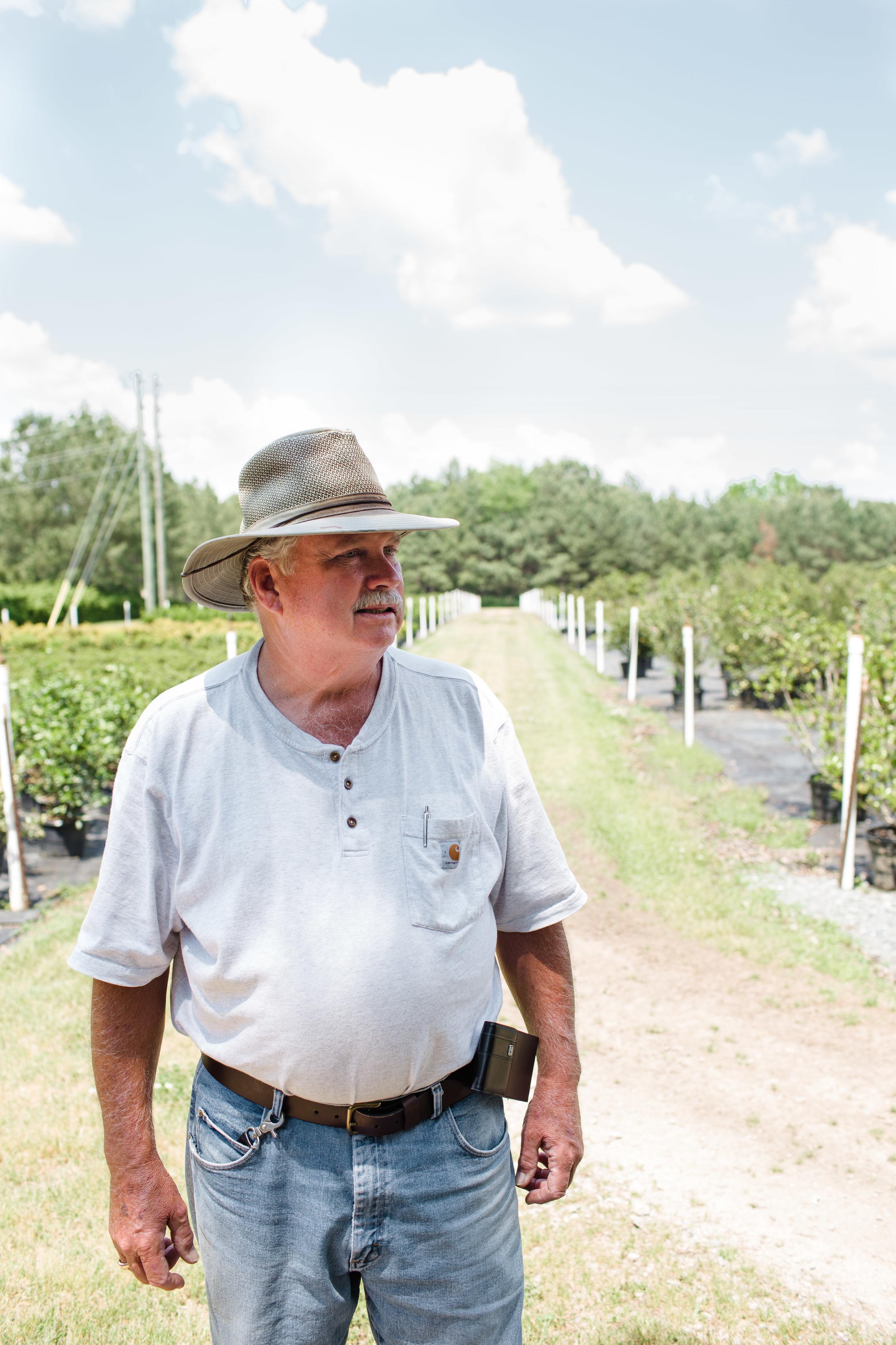 David Watson of Watson's Nursery in Sanford, NC