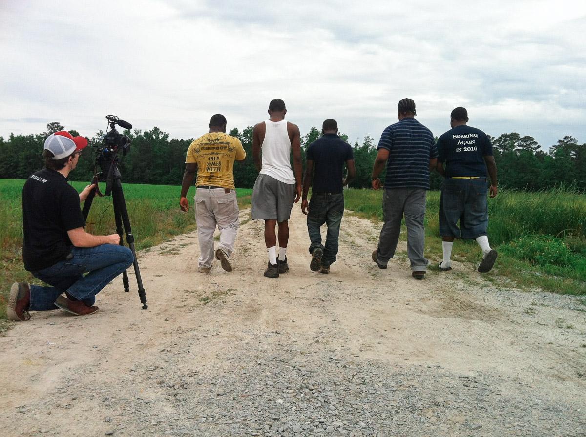 Behind the scenes filming  Raising Bertie //Photo by Reginald Askew