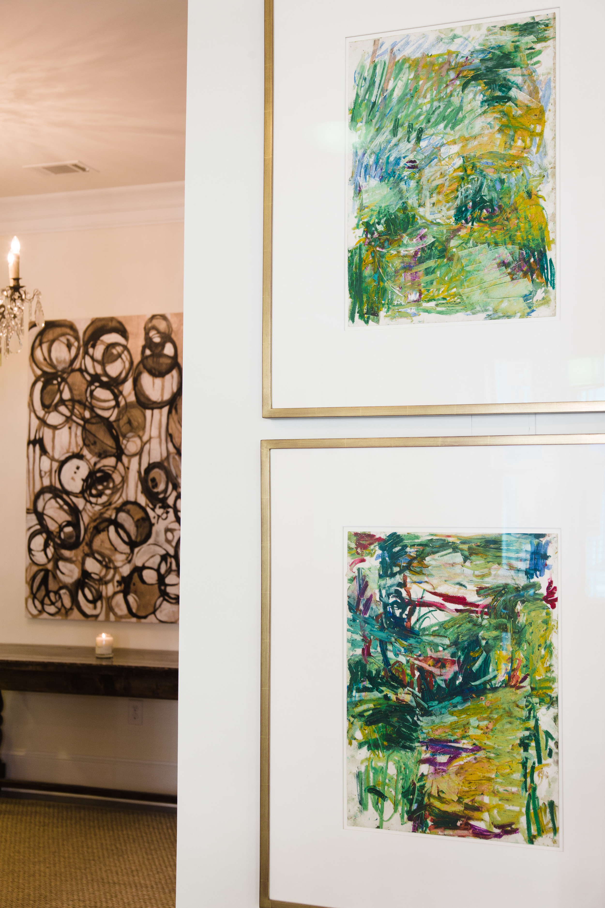 "Carl Plansky (foregound), ""French Landscape #1"" & ""French Landscape #6"""