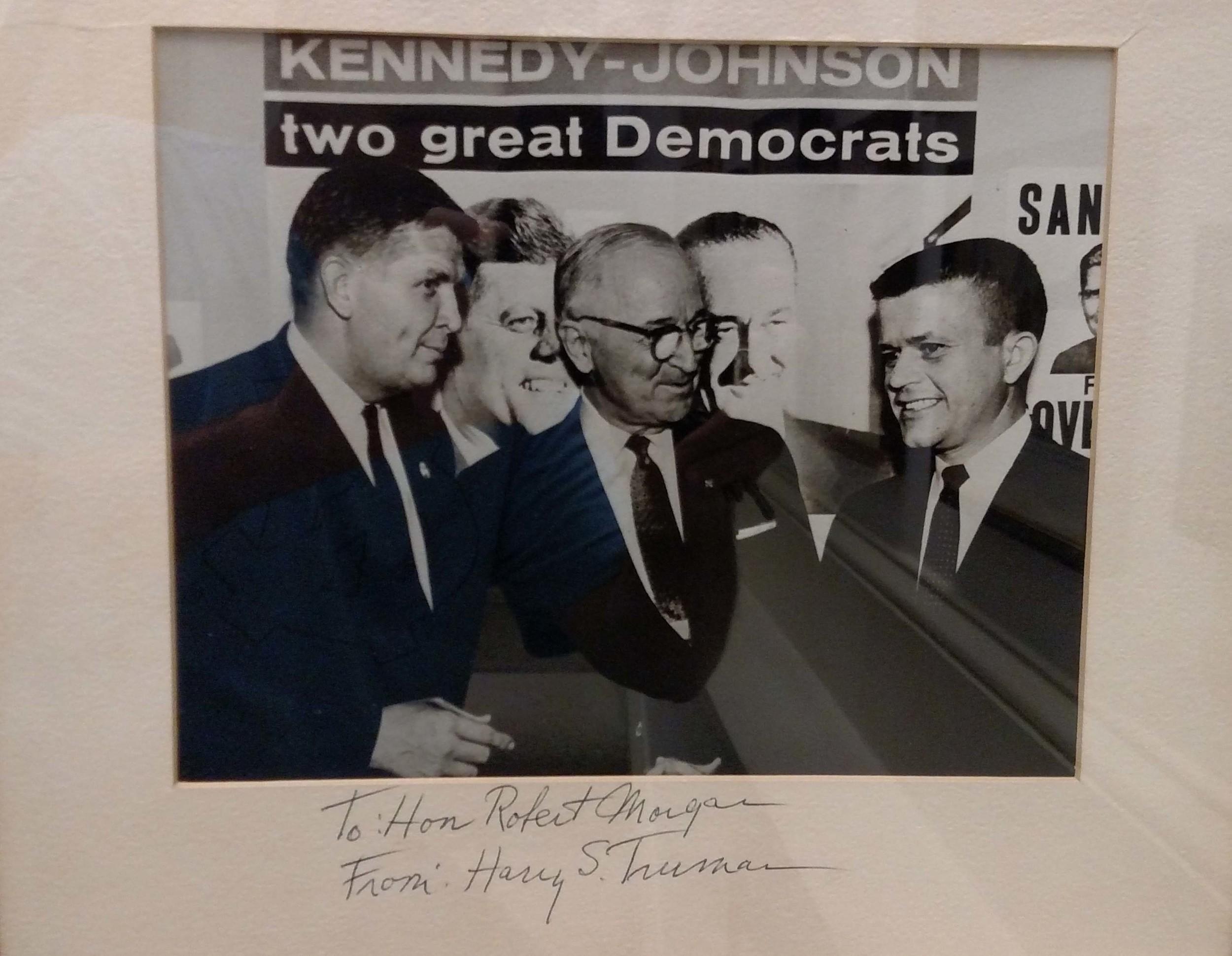 North Carolina Governor Terry Sanford, President Harry Truman and Robert Morgan