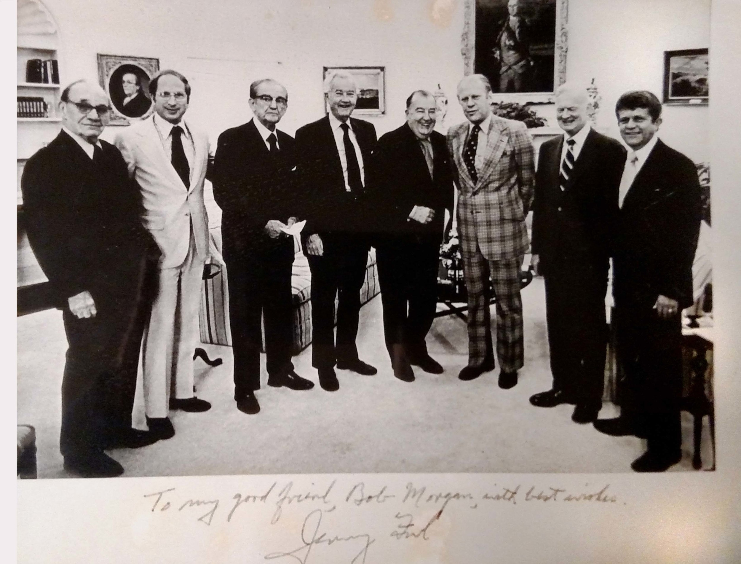 Robert Morgan with President Gerald Ford and others