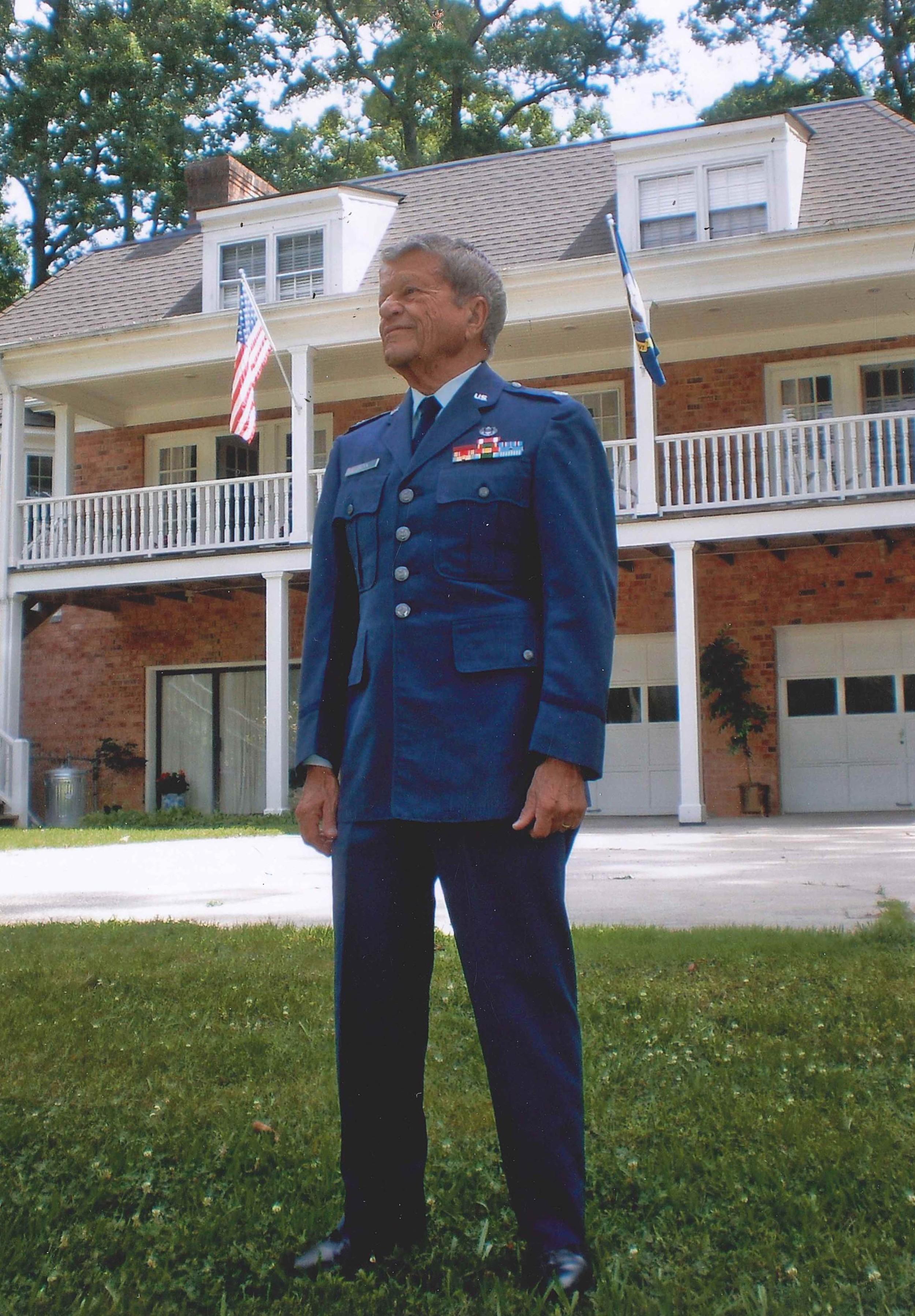 Robert Morgan in his navy uniform in June 2010