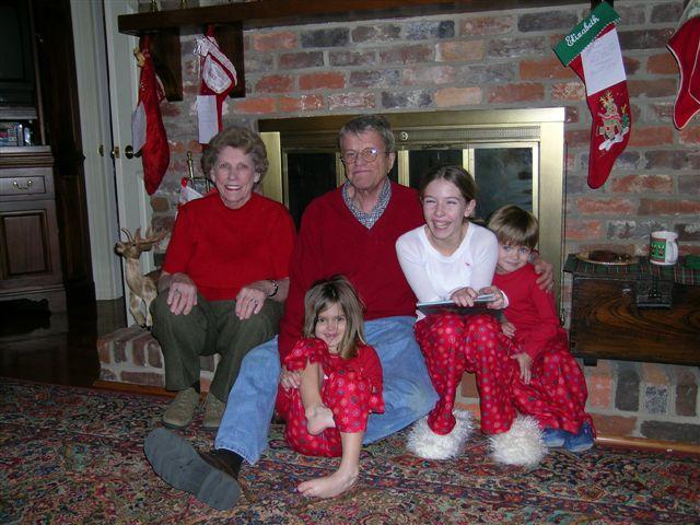 Robert, Mary and their grandchildren