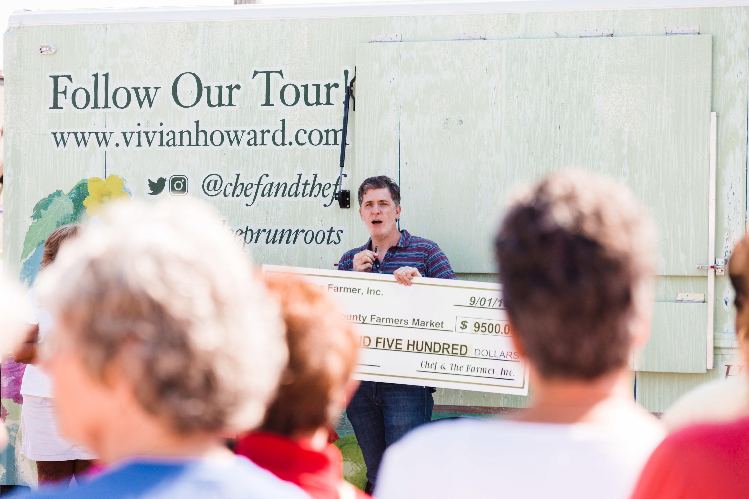 Ben Knight announces $9,500 donation to the Lenoir County Farmers' Market