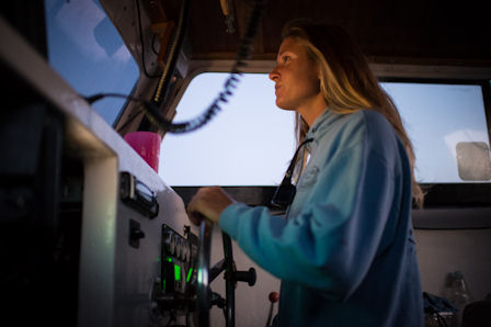 Shannon Dunn enjoys being a commercial fishing captain. Photo by Daniel Pullen
