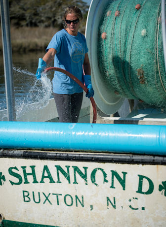 Dunn anticipates buying her namesake boat from her father. Photo by Daniel Pullen.