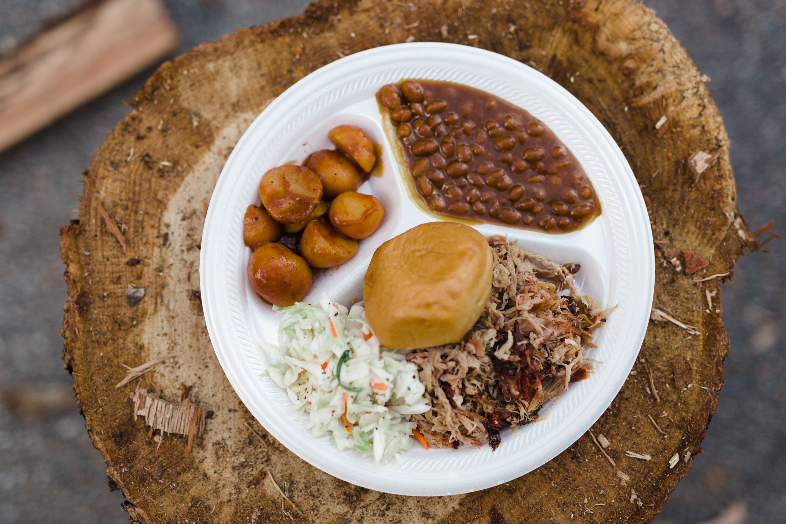 Matthew's plate at the Barbecue Experience Dinner in October.