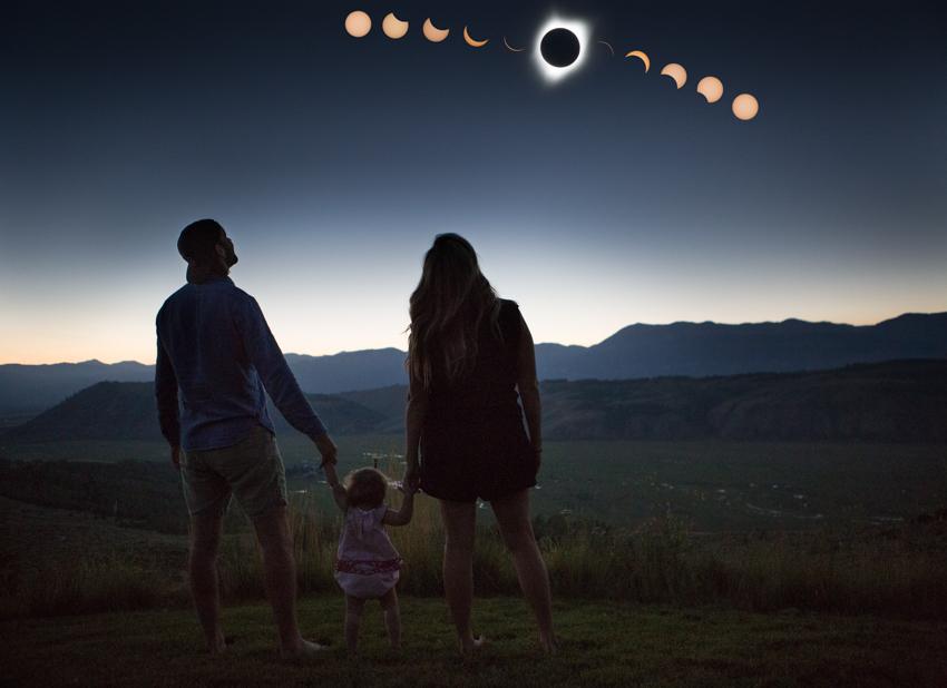 selfie family portrait - totality!