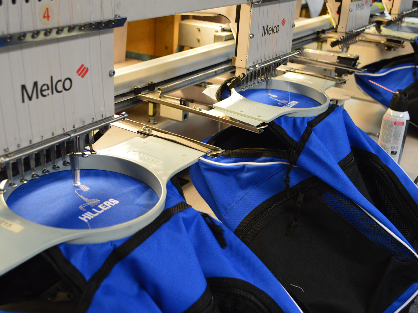 EMBROIDERY - Let us transform your logo or design into custom embroidery and add that professional touch you've always wanted for your apparel and gear. Hats, polos, half-zips, jackets and bags are just a few of our most popular embroidery items we offer to show off your team, company or event with style!