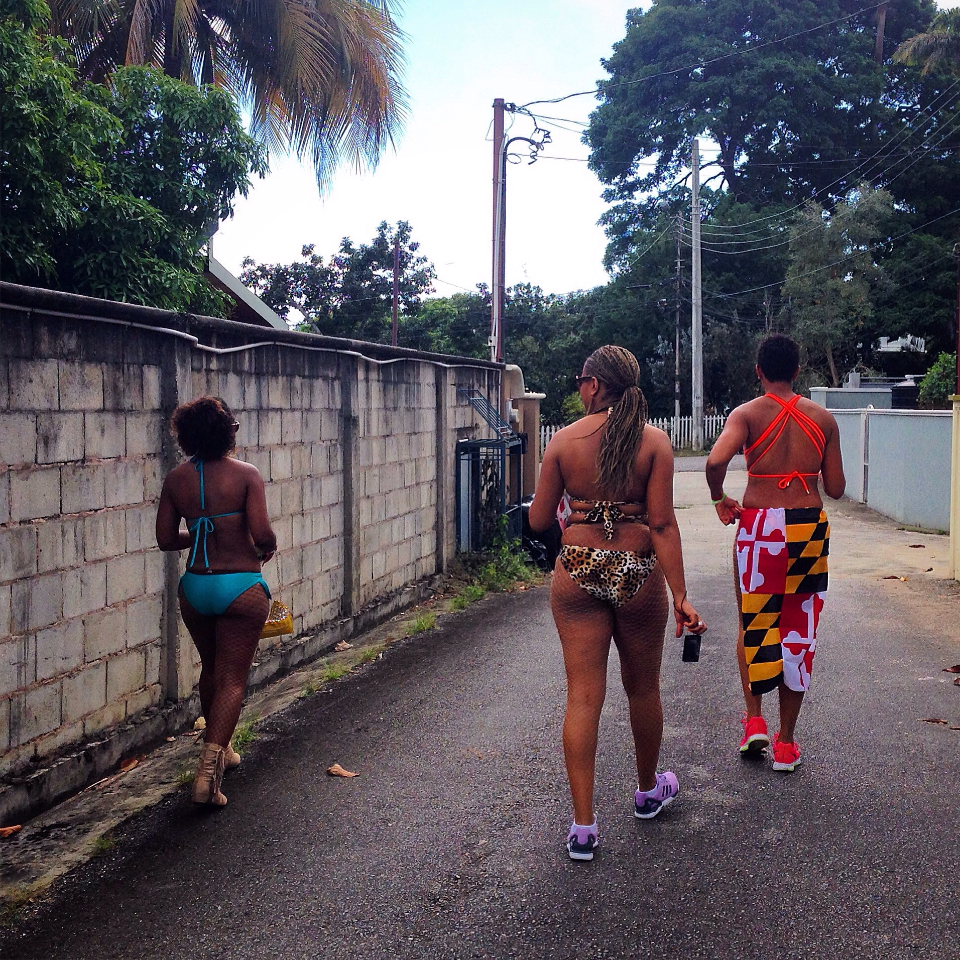 Staying with some ambitious young ladies, friends of a friend, american consultants to the island's ruling political party. But like everyone else they get the week (weeks?) off to get down. Walking downtown from the rich, traditionally white, hills of Maraval. Race and class are constant topics of discussion.