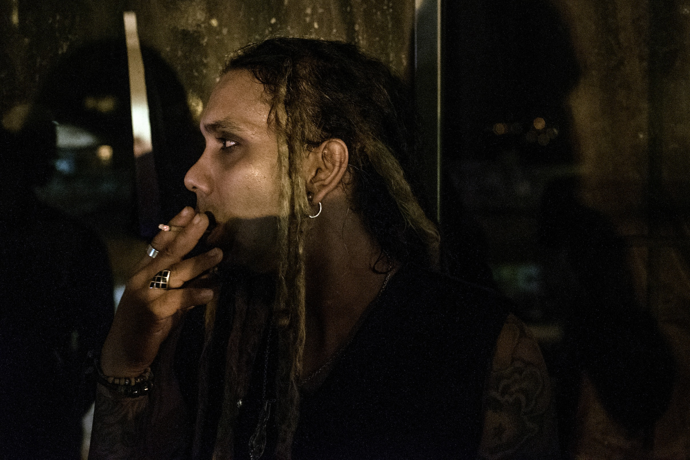 Andy, the lead man of Supernormal, one of Trinidad's longest-lasting metal bands.