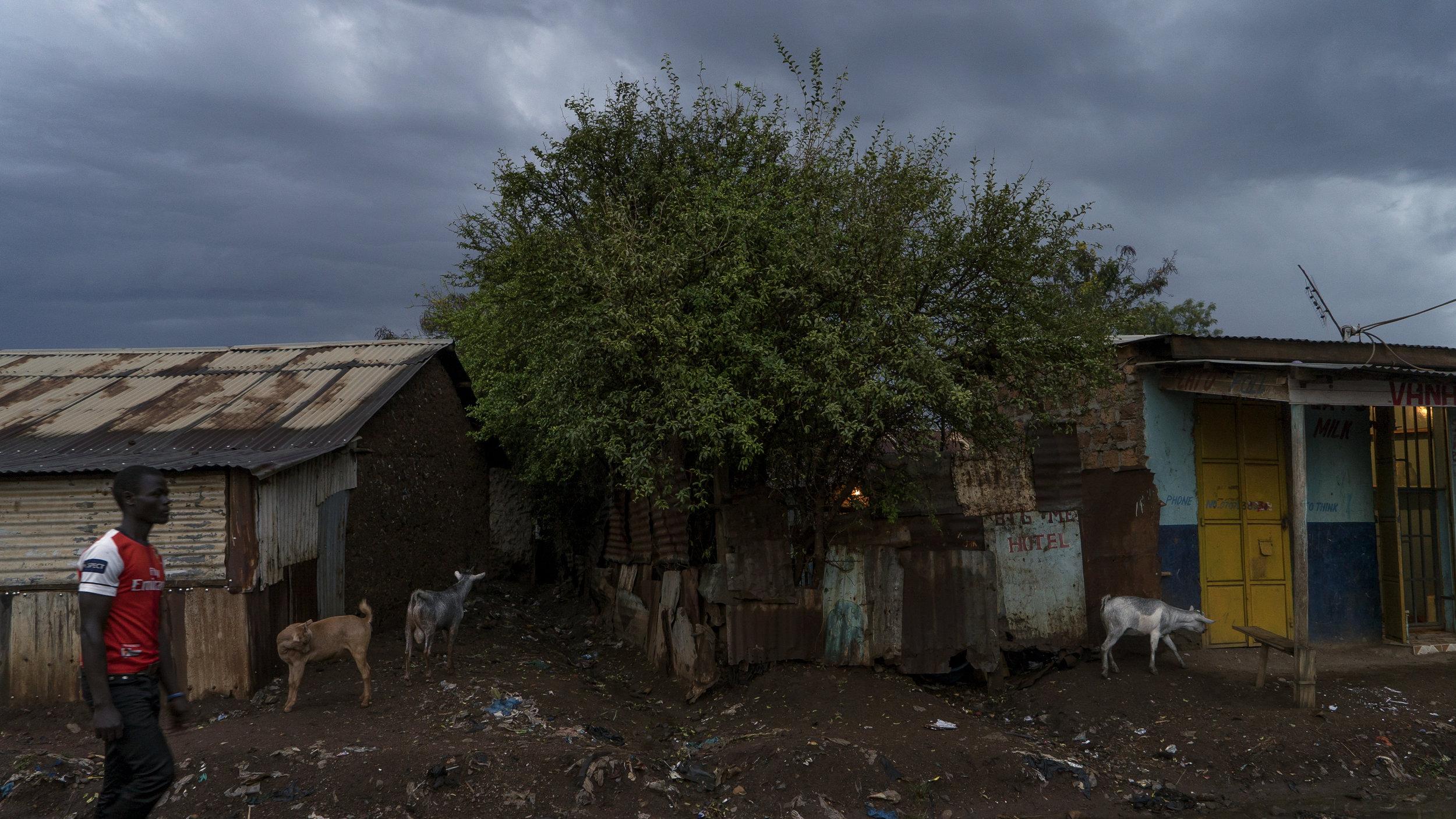 Manyatta, Kisumu, Kenya, across the way from where Olima normally stays.