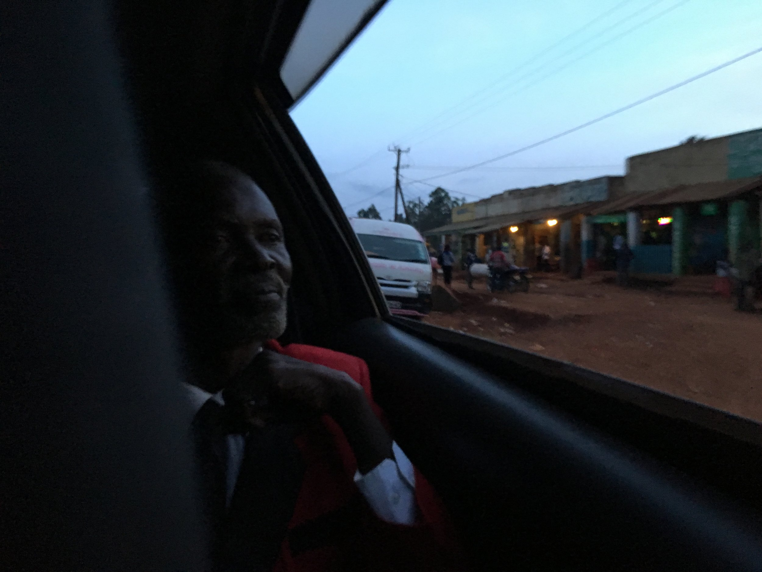 Sukuma guides us to the home of Fanuel Amimo