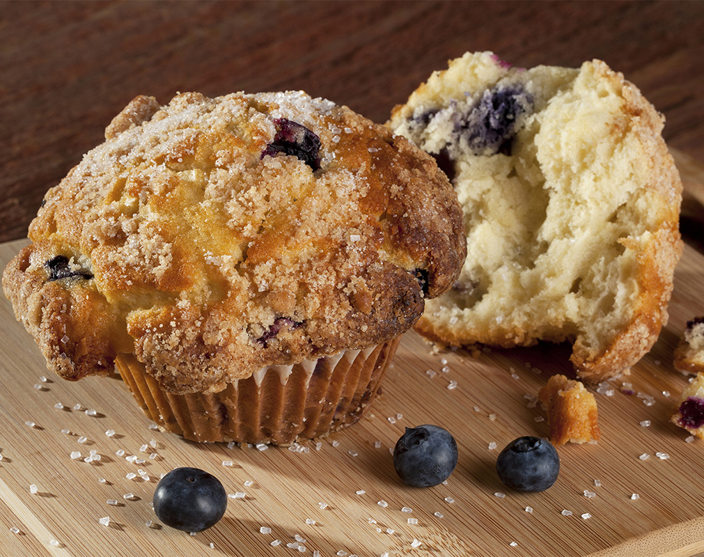 Food Photography - Blueberry Muffin