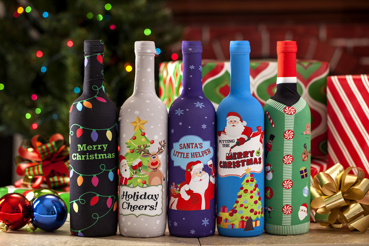 Product Photography -Christmas Wine bottle covers