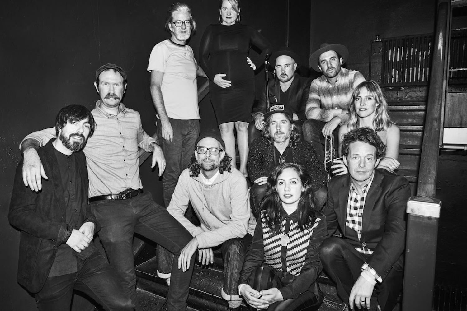 Broken Social Scene - HUG OF THUNDERBroken Social Scene, the canadian SUPER GROUP, dropped their first album in 7 years. Favorite tracks: Stay Happy, Hug of Thunder, Halfway Home, Please Take Me With You