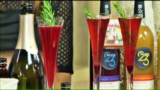 'Royale Sparkler' Champagne Cocktail as seen on New Day Cleveland