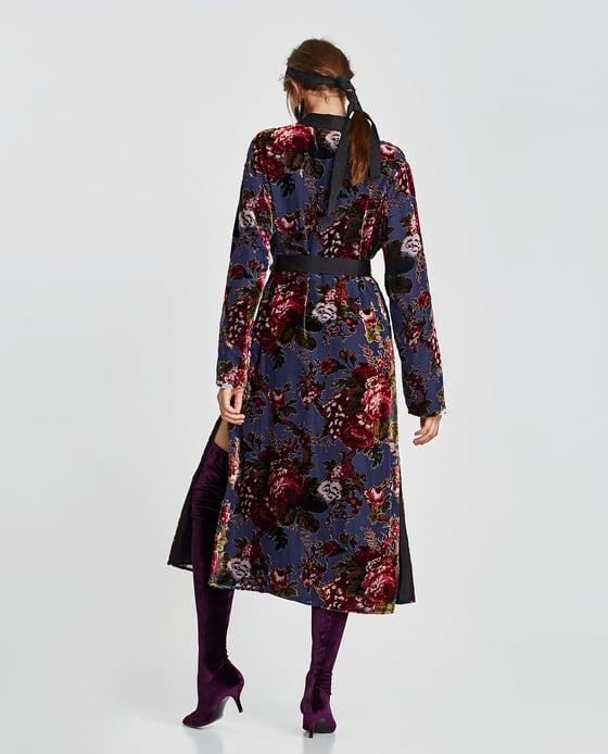 3. Zara Velvet Kimono