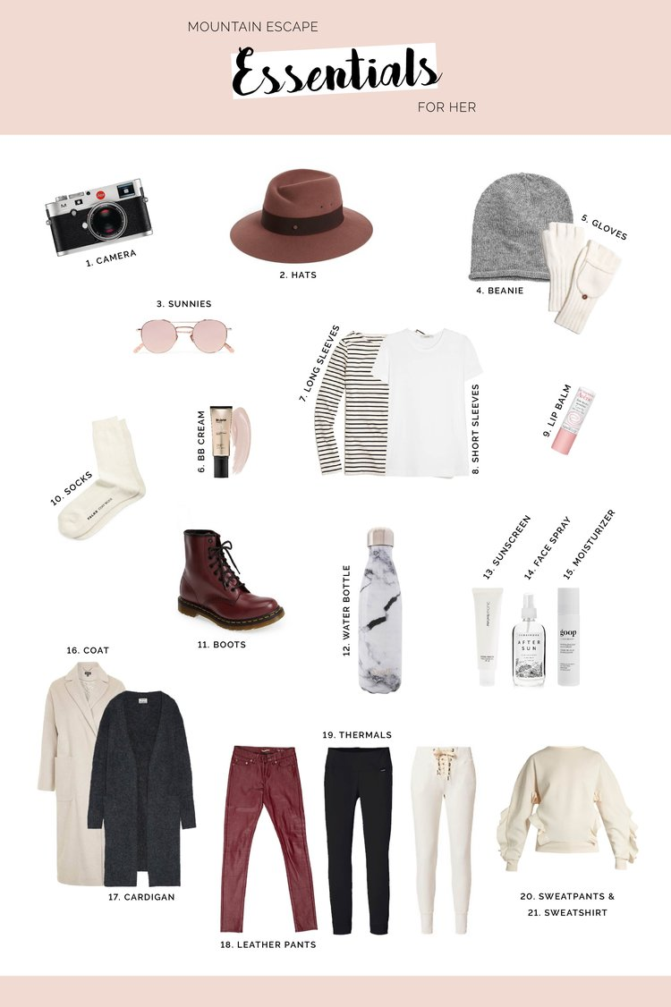 WHAT TO WEAR TO THE MOUNTAINS