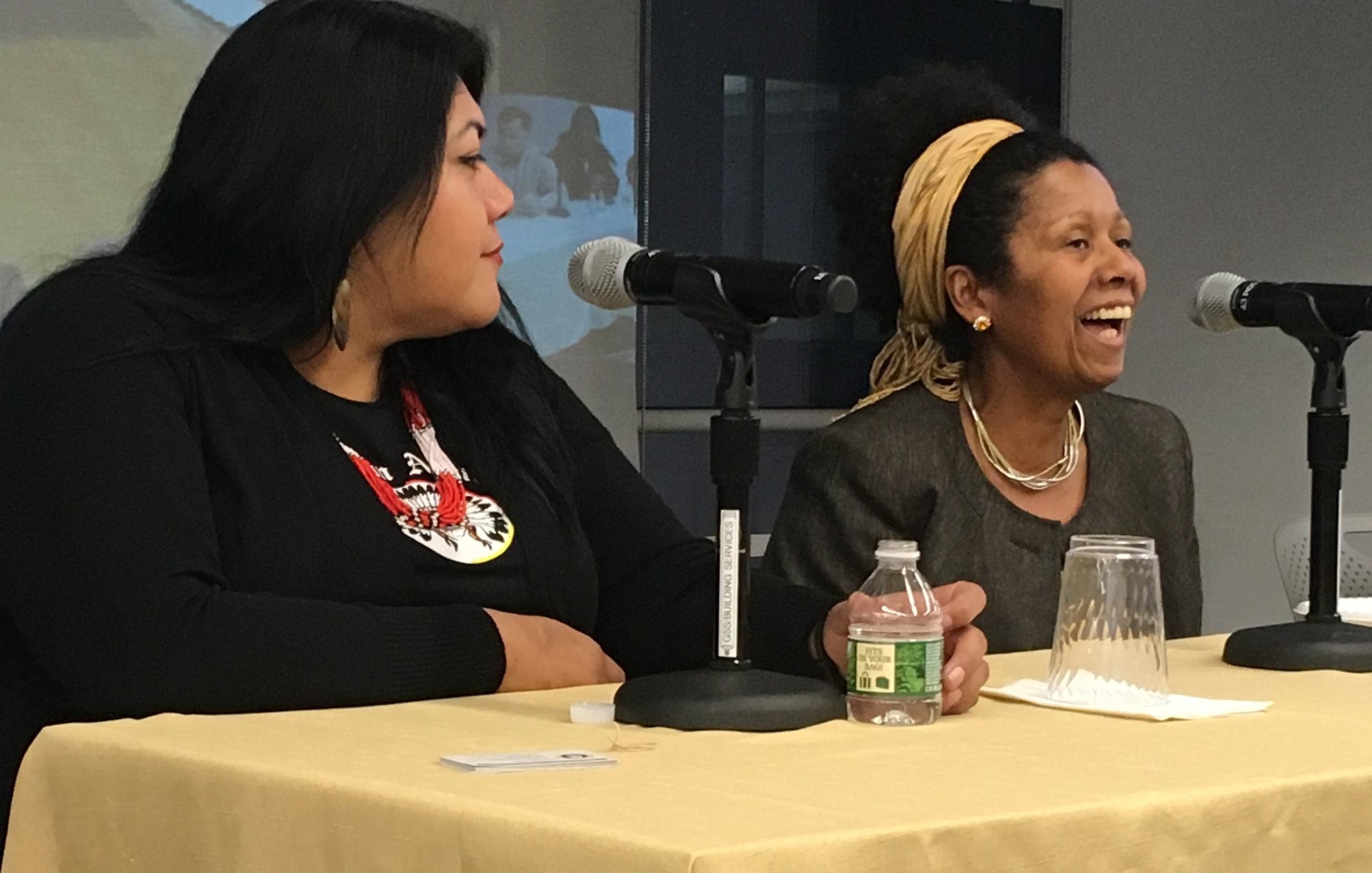 Hon. Claudette White and Hon. Maria Arias at From Courtroom to Community: Rethinking the Role of Courts and Judges panel, March 2018