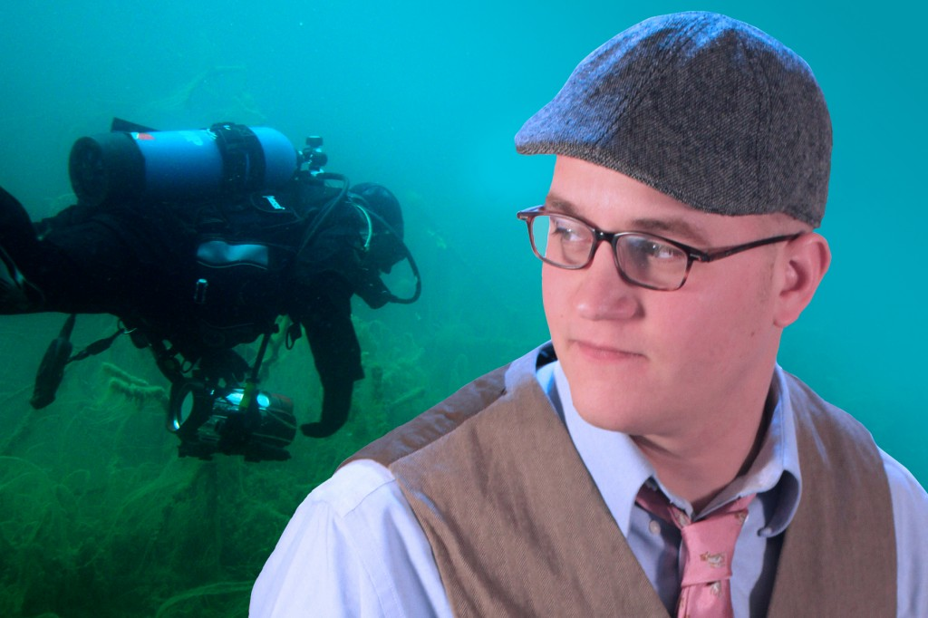 Promotional photo of Bob Shoemaker diving