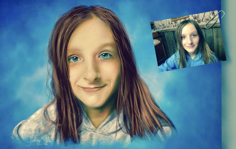 Digital artwork created on the iPad Pro using the Apple Pencil.