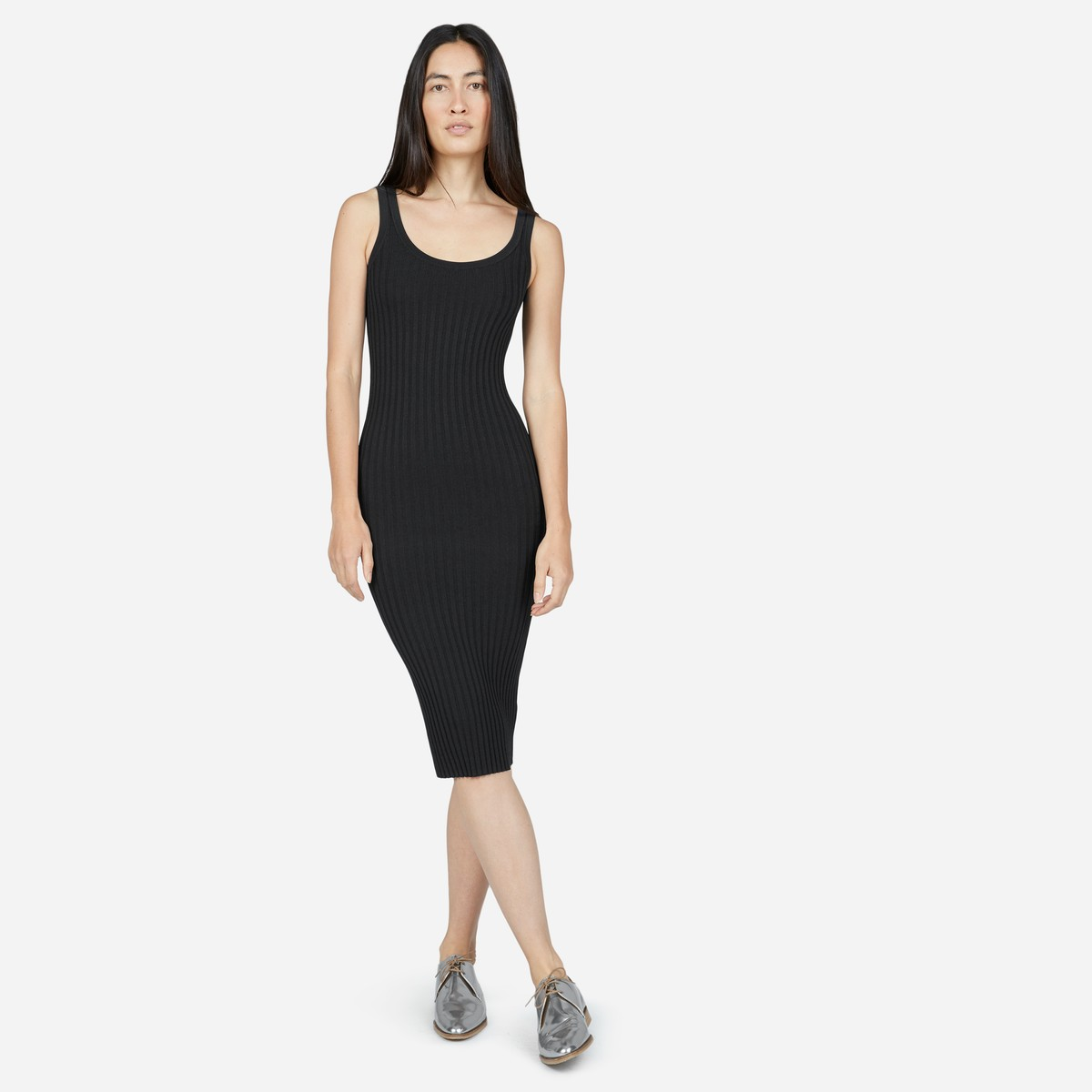 This tank dress from Everlane will show off your figure and easily transition into a variety of looks.  Cost: $98 USD