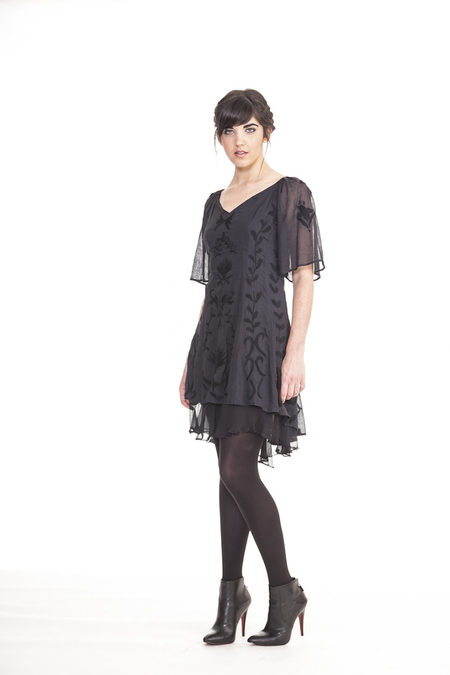 Moody but elegant, this dress by Raven + Lily is sure to be admired wherever you wear it.  Cost: $132 USD