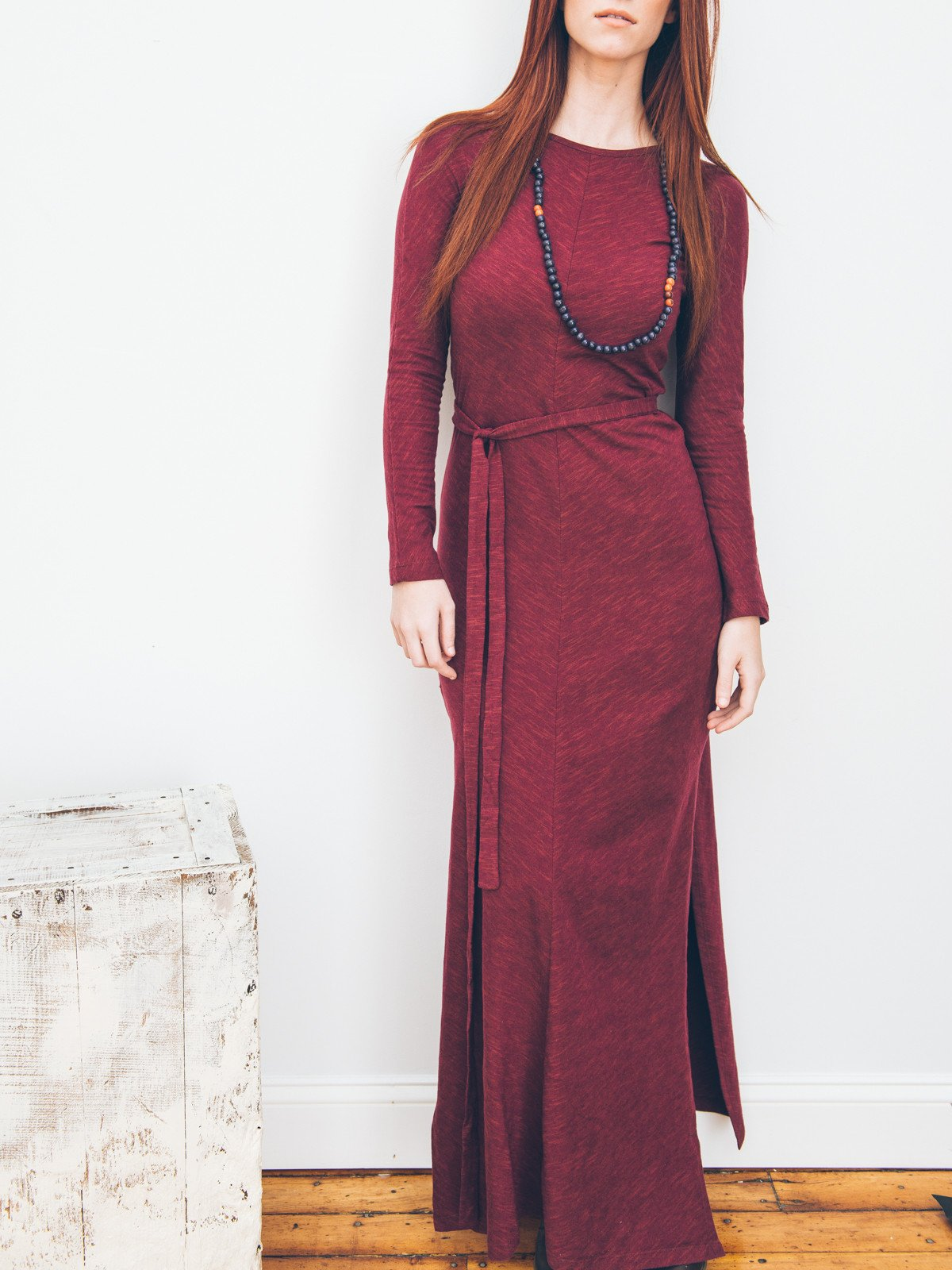A burgundy maxi from Ash & Rose will have you feeling comfy and looking regal.  Cost: $70 USD