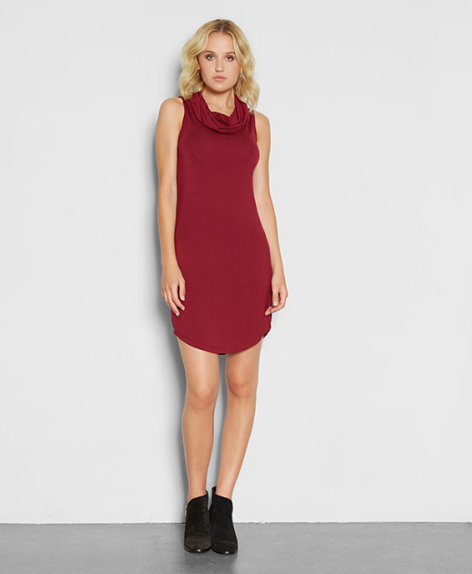 Casual but striking, this dress from Threads 4 Thought is full of holiday cheer.  Cost: $49 USD