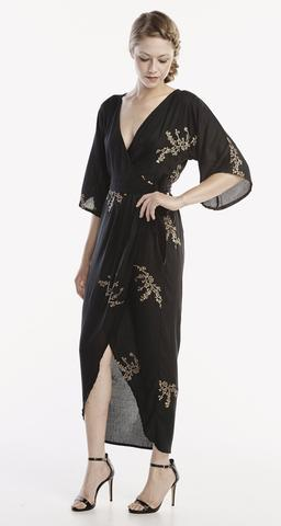 Symbology's wrap dresses mix classic hollywood vibes with a kimono silhouette. Timeless and stunning.   Cost: $168 USD  Use the code SELFLESSLY to get 15% off your order from Symbology for the holidays, expires 11/30.