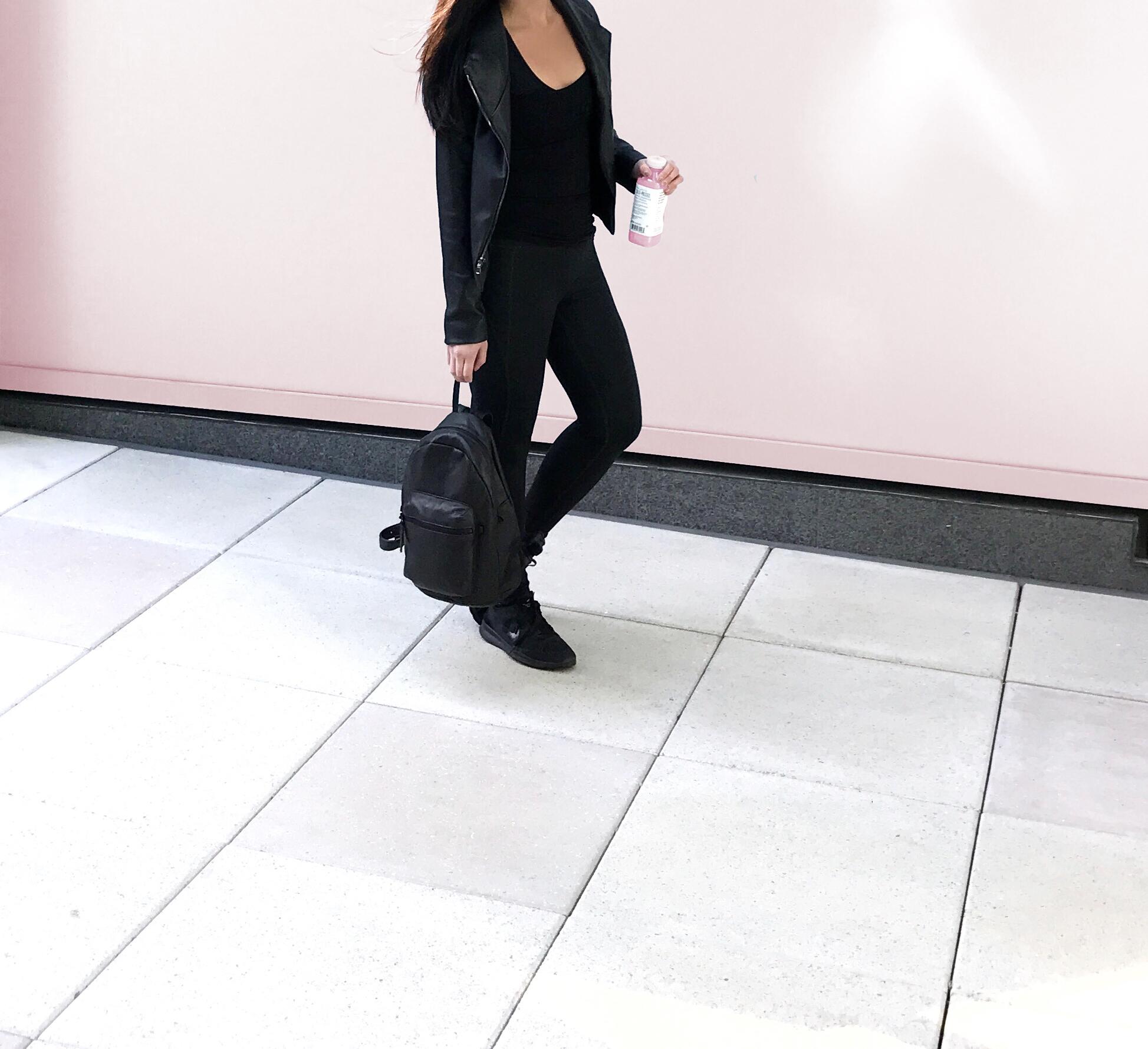 ethical black jacket street style