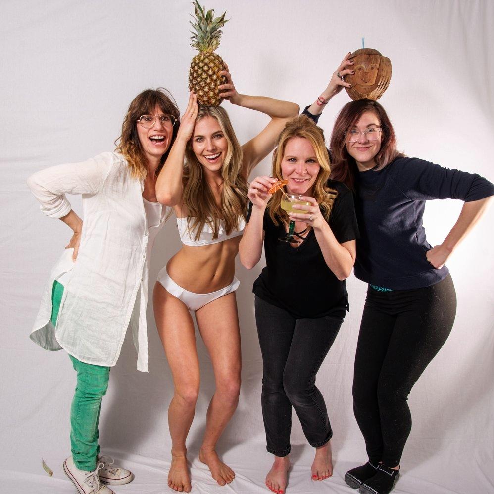ethical bikini behind the scenes photoshoot