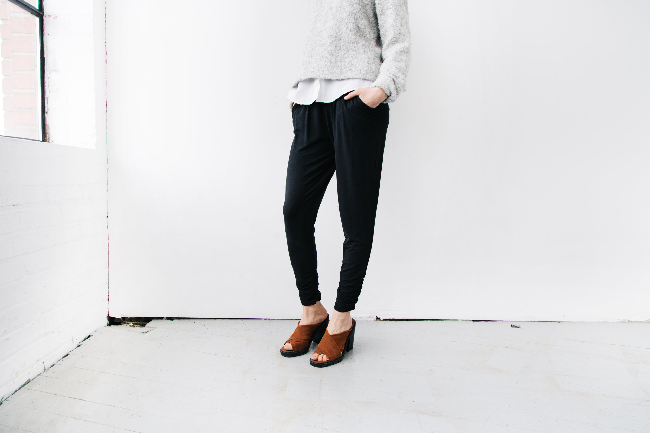 ethical black comfy pants