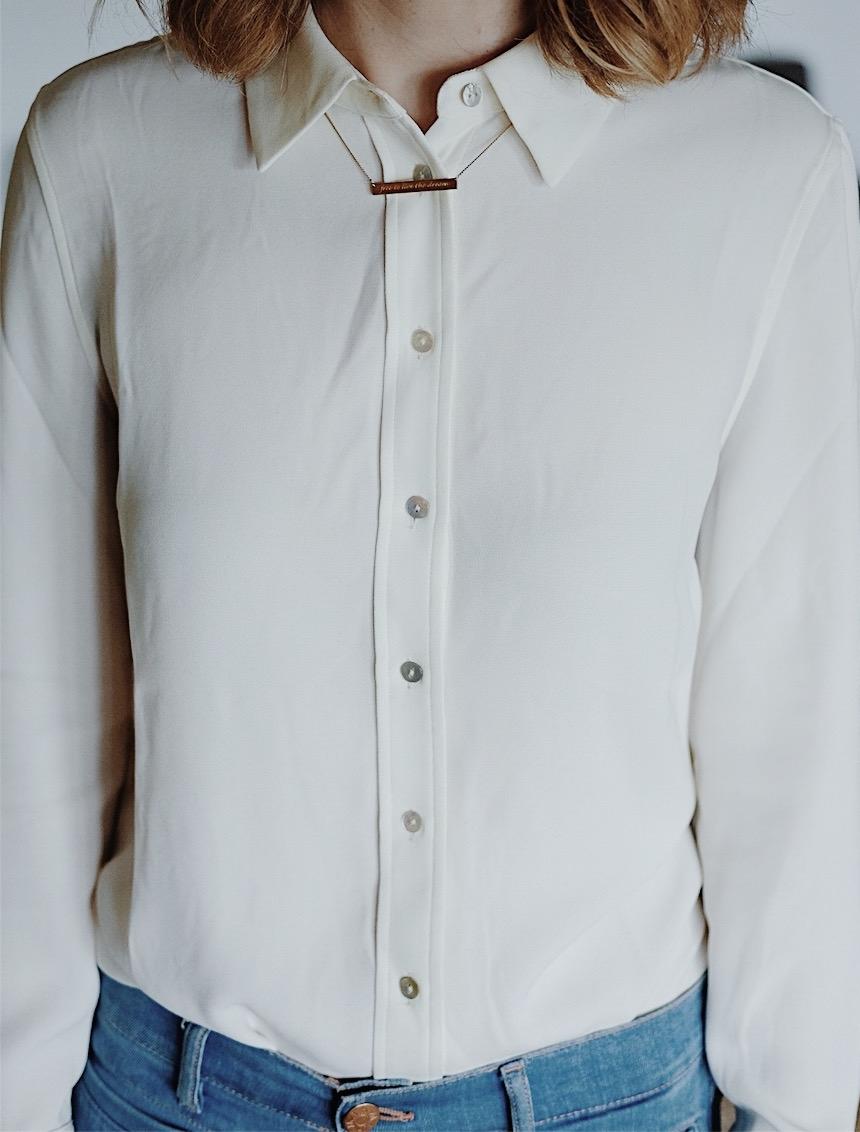 classic style uniform white shirt