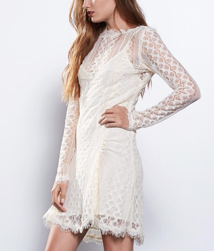 ethical lace short wedding dress