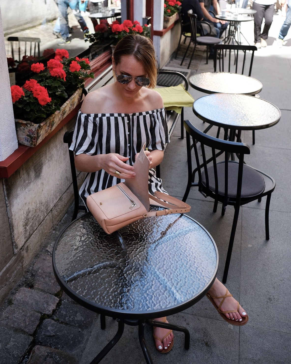 striped summer dress outfit