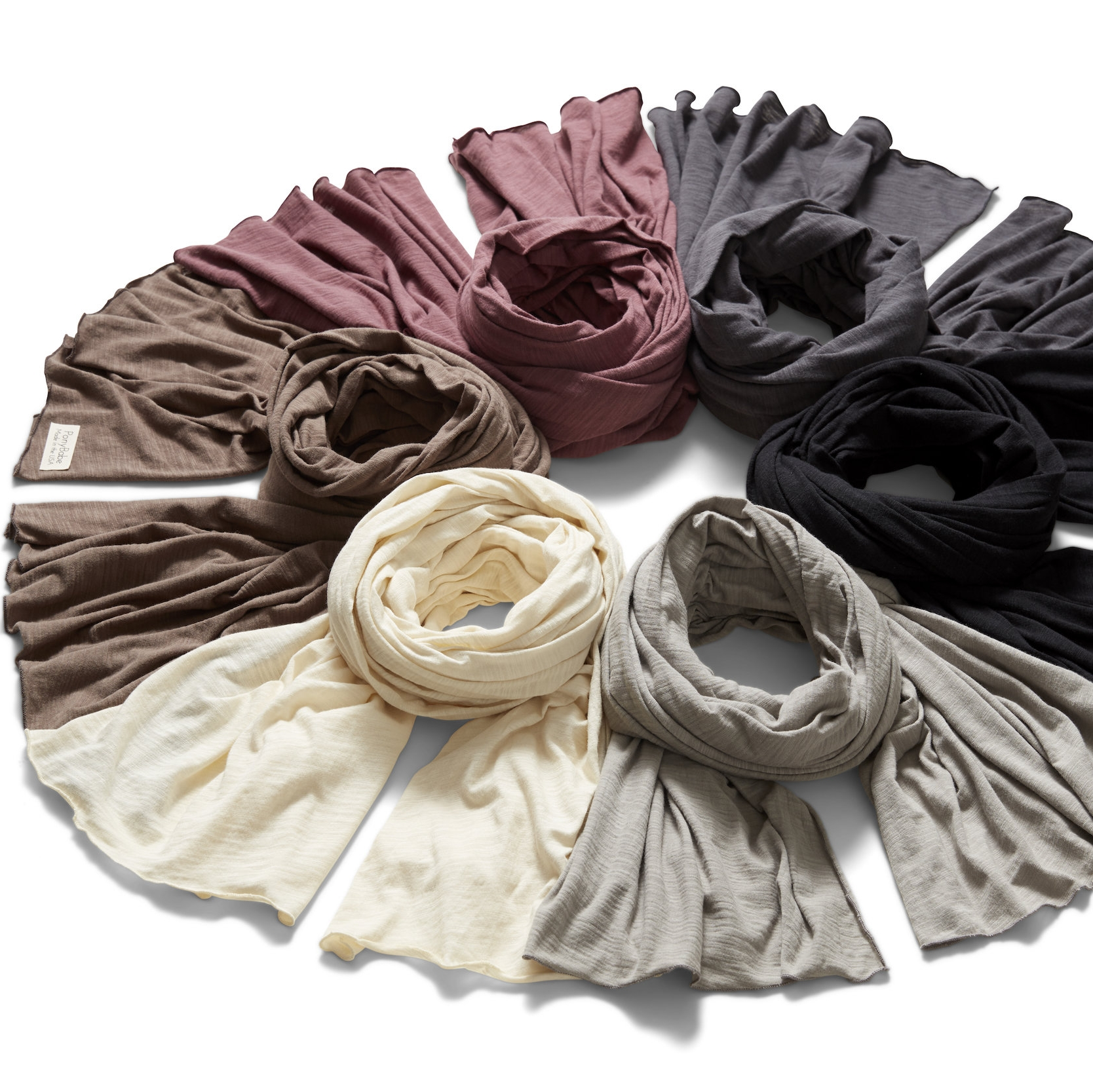 MULTI WRAPS | $69 - These wraps have a stitched edge, and are surprisingly warm considering the lightweight feel. They're the perfect complement to any wardrobe and can be worn as a shawl, a scarf, a nursing cover, a head wrap... the possibilities are endless! Purchase them individually, or as a discounted set.