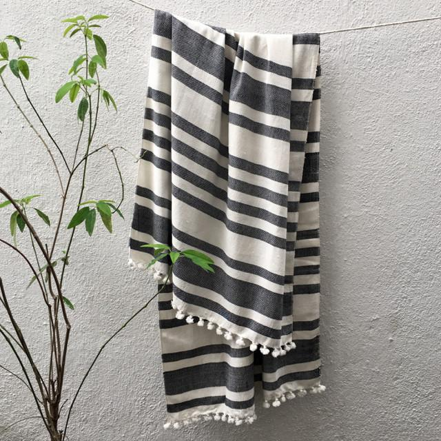 HANDWOVEN TOWEL | $32 - These soft bath towels are handwoven from a lush cotton yarn on looms in Bengal, India. Dense and soft yet lightweight, they're perfect for everyday use, travel or the beach.