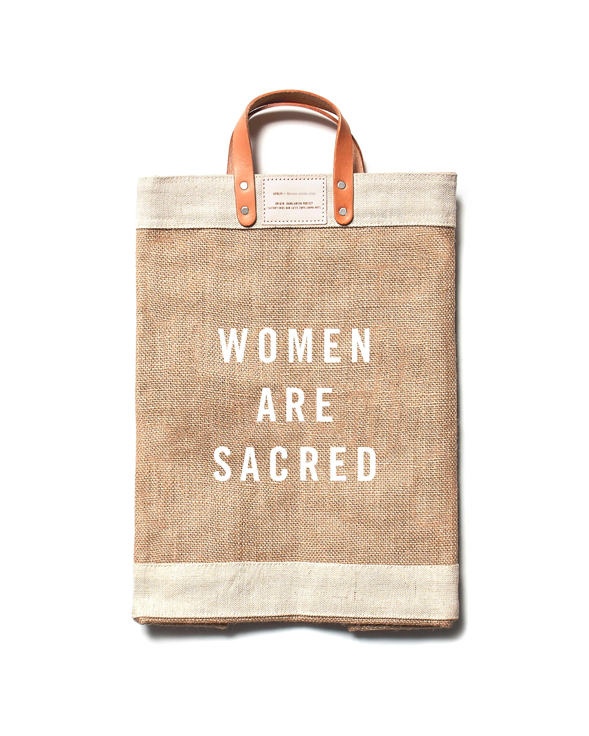 MARKET BAG | $68 - As featured in the 2017 LA Times Gift Guide, the WOMEN ARE SACRED market bag collaboration between socially conscious brands Our Sacred Women and Apolis is timely for those wanting to give a gift with substance. The powerful message aside, these 100% jute fiber, waterproof bags are handcrafted in Bangladesh by a growing female artisan cooperative, and 10% of proceeds from each sale is donated to The Breathe Networkto support survivors of sexual violence. This is just one of several signature products by Our Sacred Women- a movement to restore women to a place of reverence through specialty gifts that help women feel seen, valued, and honored.