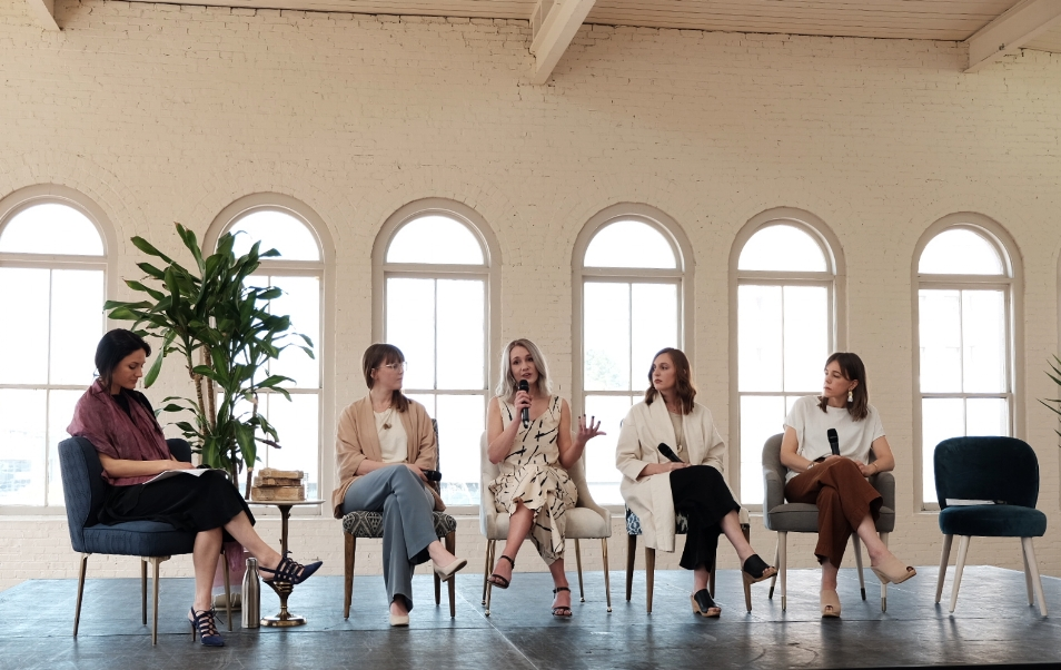 Pictured (Left to Right): Andrea of  Fashion Revolution , Chloé of  Conscious by Chloé , Myself, Allison of  The Thoughtful Closet , Andrea of  Seasons + Salt .