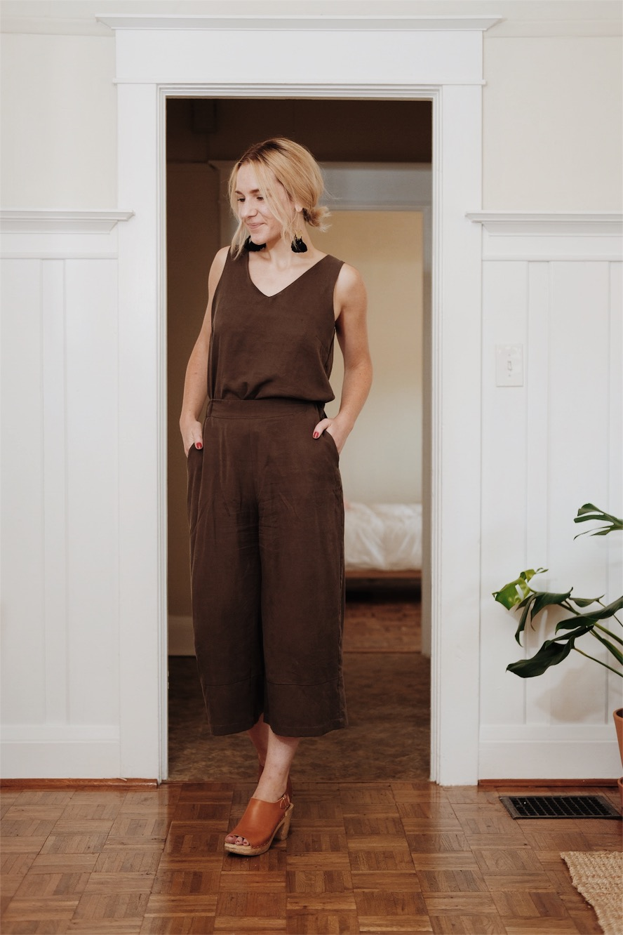Sustainable Ethical Faux Jumpsuit Review | Selflessly Styled