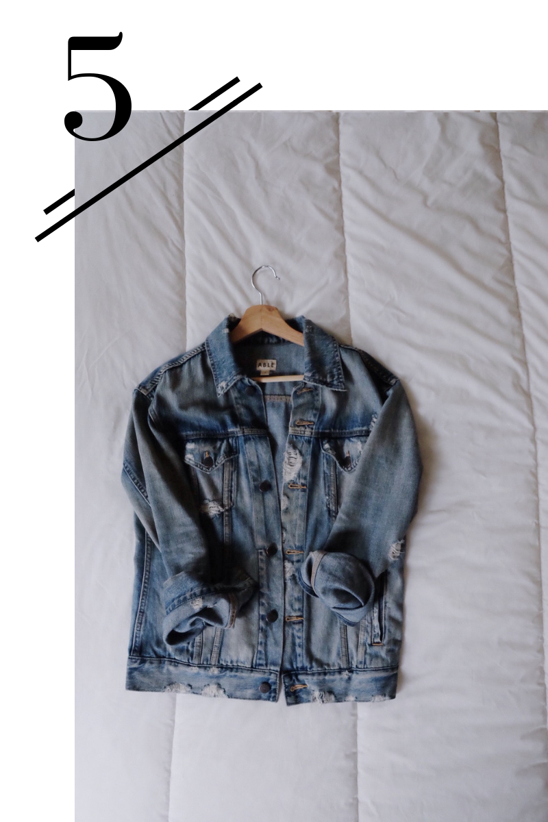 Denim Jacket - Can't go wrong with a denim jacket, I chose this to break up all the black that I tend to wear in winter!(Find it here.)